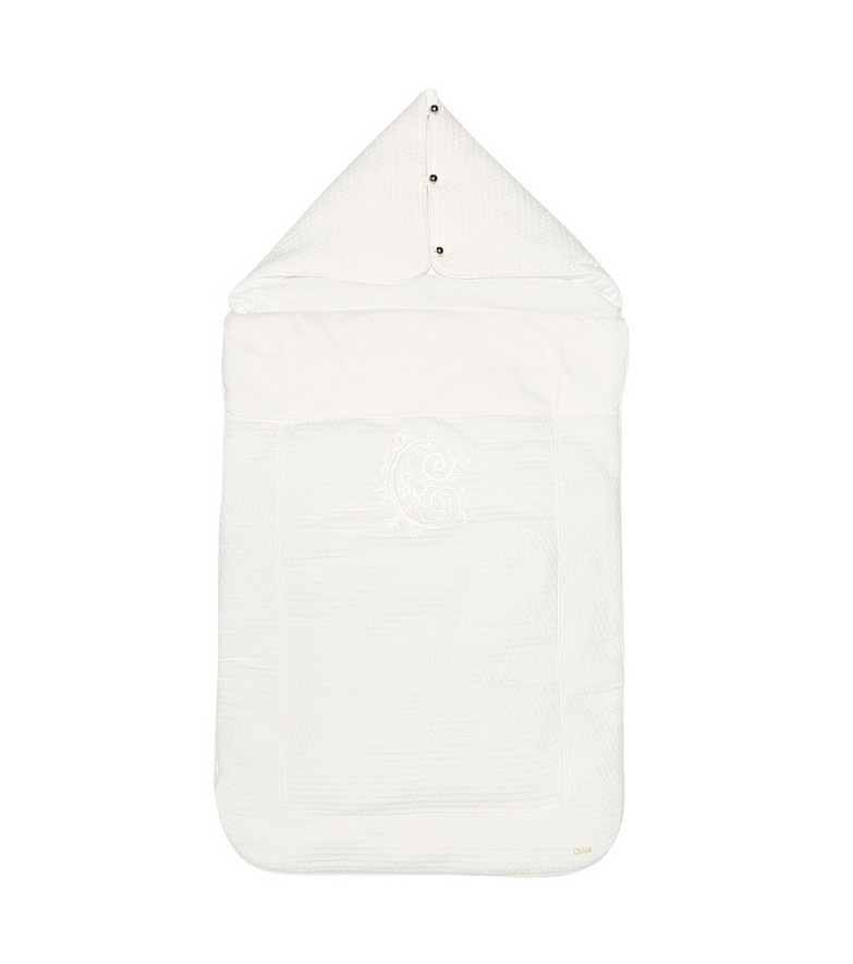 Chloé Kids Cotton bunting bag in white