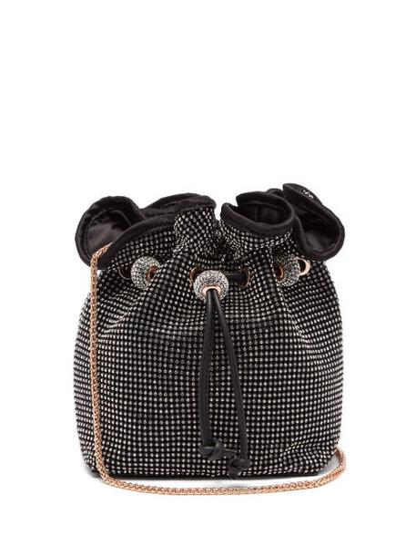 Sophia Webster - Emmie Crystal-embellished Satin Bucket Bag - Womens - Black