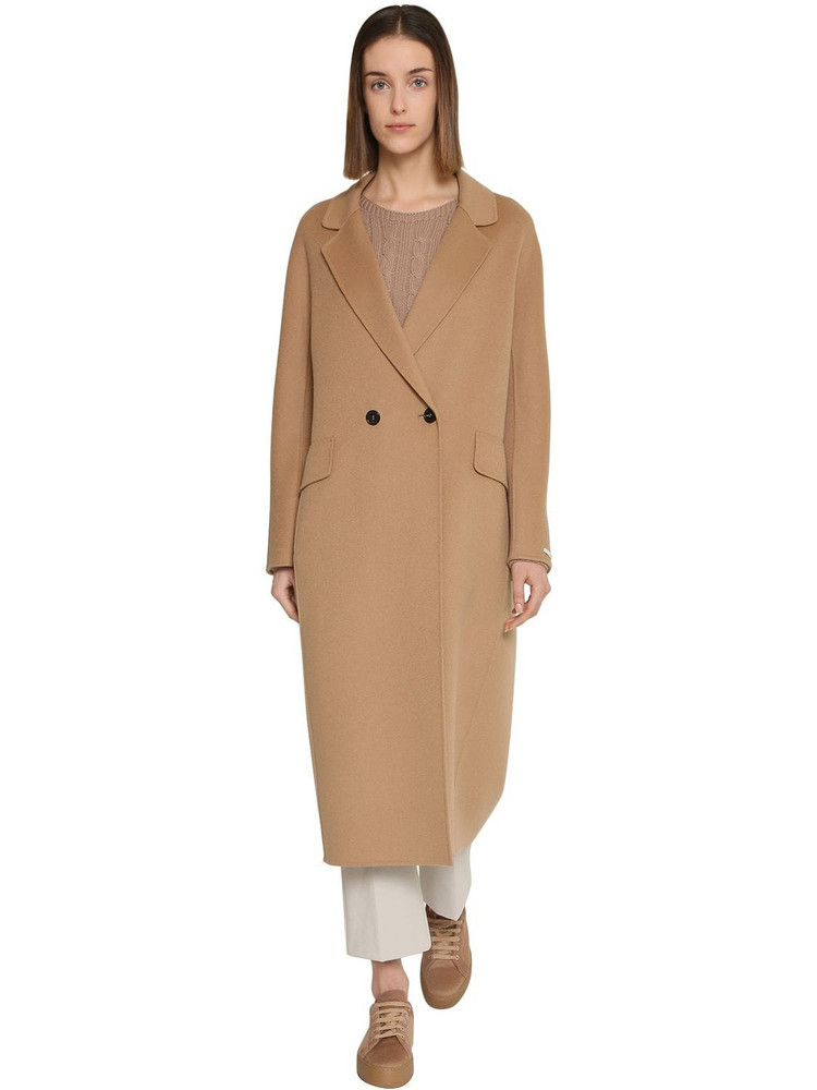 MAX MARA 'S Double Breasted Long Wool Coat in camel