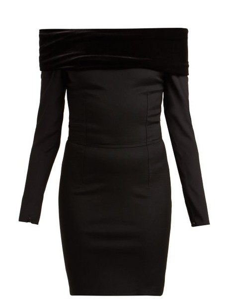 Emilio De La Morena - Tasman Off The Shoulder Dress - Womens - Black