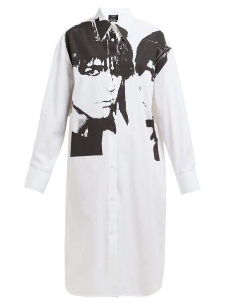 Calvin Klein 205w39nyc - Stephen Sprouse Portrait Print Cotton Poplin Shirt - Womens - White Black