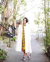 acupofjo,blogger,dress,coat,shoes,jewels