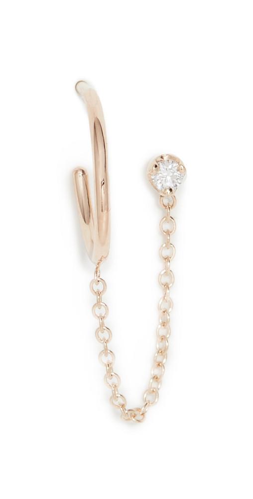 Zoe Chicco Prong Diamond Earring in gold