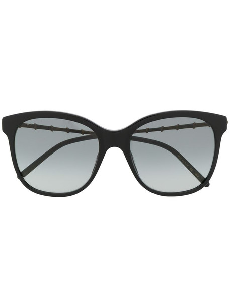 Gucci Eyewear bamboo-effect soft-square sunglasses in black