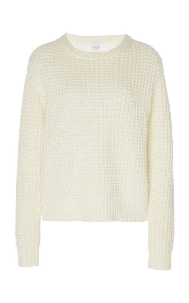 Madeleine Thompson Boreas Waffle-Knit Cashmere Sweater in neutral