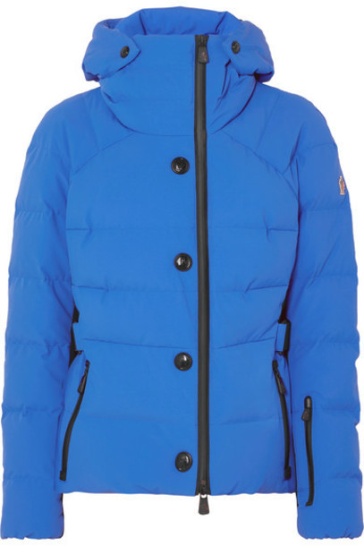 Moncler Grenoble - Guyane Belted Quilted Down Ski Jacket - Bright blue