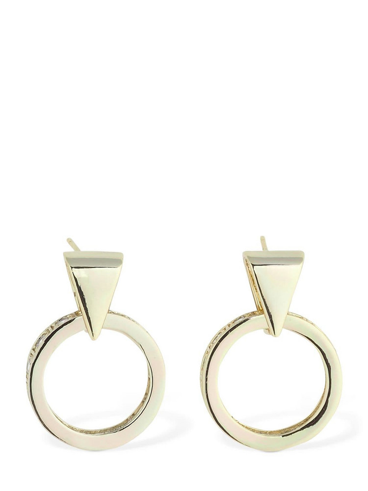IOSSELLIANI 18kt Mini Pendant Hoop Earrings in gold