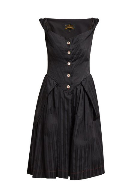 Vivienne Westwood Anglomania - Saturday Self Bustier Dress - Womens - Black
