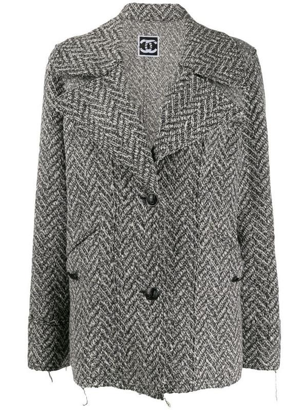 Chanel Pre-Owned 2008's herringbone jacket in grey