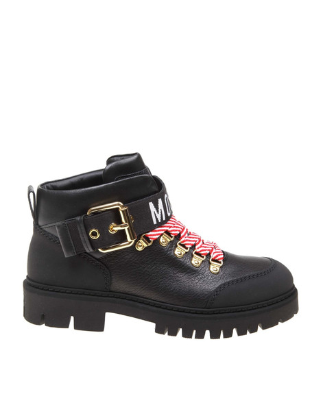 Moschino Boots In Black Leather
