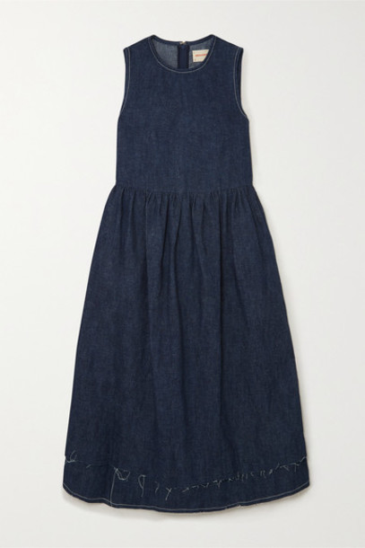 &Daughter - Evelyn Hemp Midi Dress - Indigo