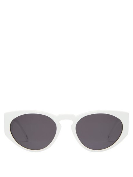 Andy Wolf - Goran Oval Acetate Sunglasses - Womens - White