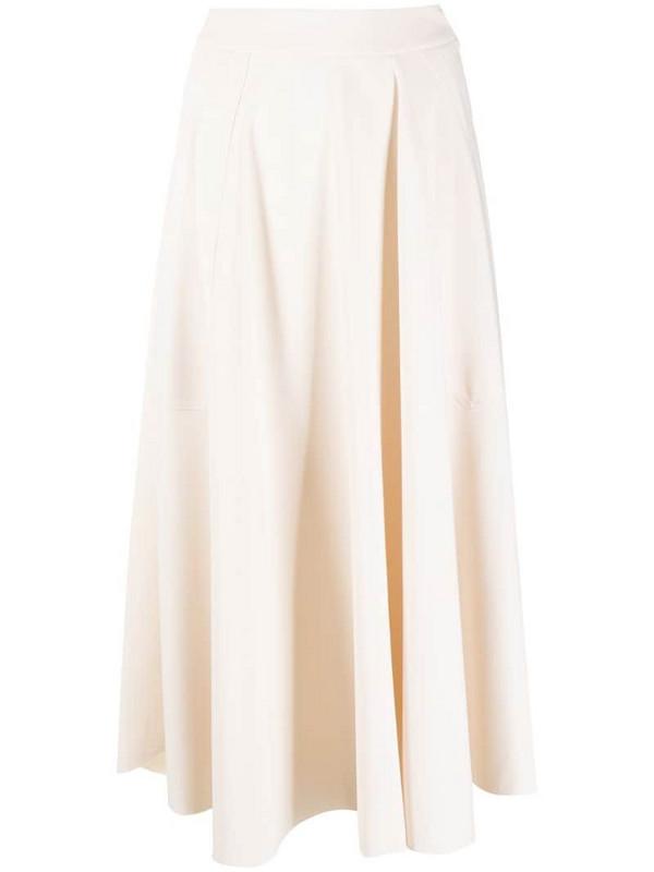 Alysi draped gathered skirt in neutrals