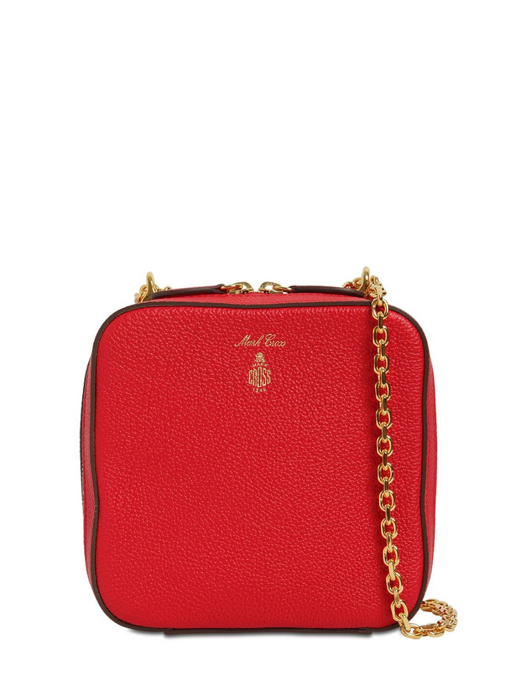 MARK CROSS Rose Grained Leather Bag in red
