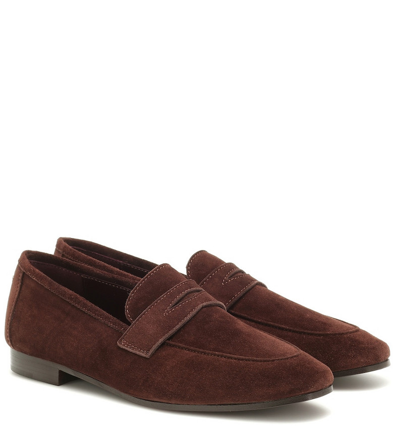 Bougeotte Flaneur suede loafers in brown