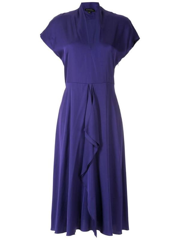 Alcaçuz Clarice flutter-detail dress in purple