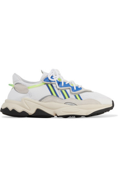 adidas Originals - Ozweego Suede And Neoprene-trimmed Mesh Sneakers - White