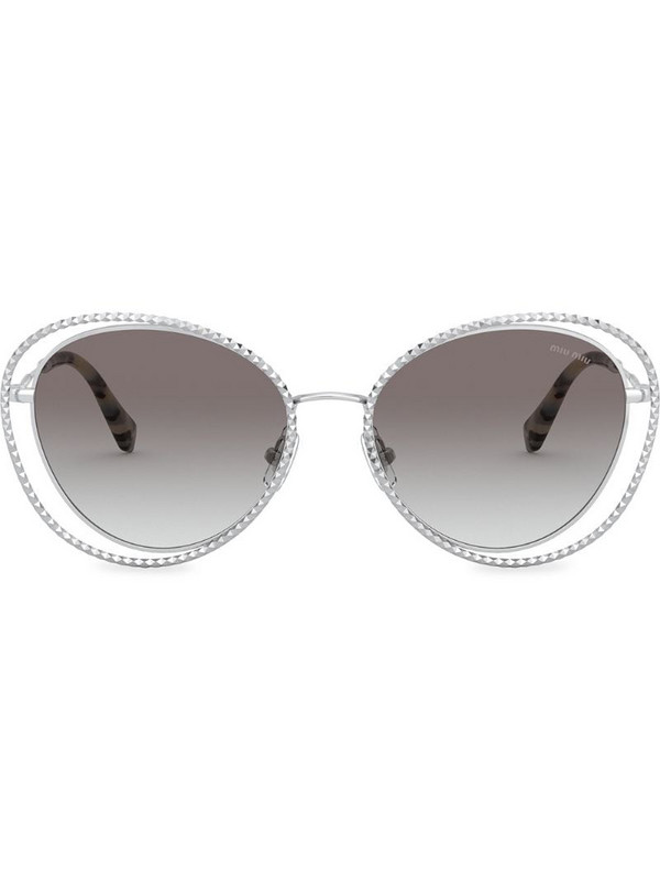 Miu Miu Eyewear La Mondaine cat-eye sunglasses in grey