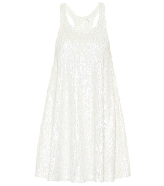 Norma Kamali Sequined minidress in white