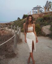 skirt,midi skirt,slit skirt,crop tops