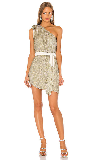 retrofete Ella Dress in Metallic Neutral