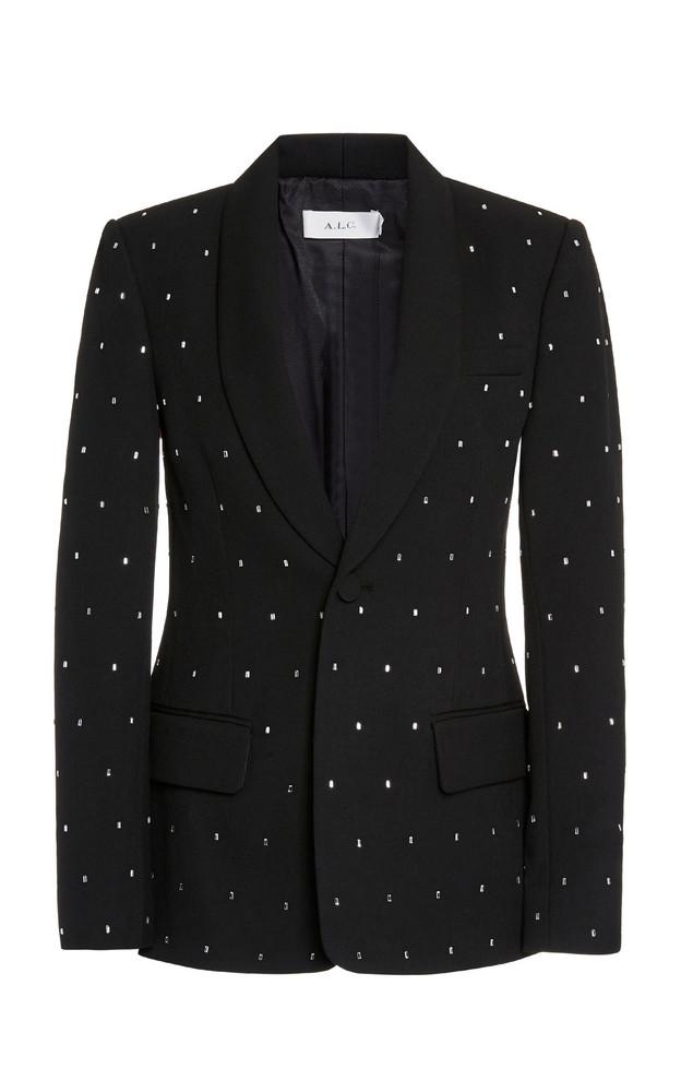 A.L.C. A.L.C. Oren Embellished Crepe Blazer in black