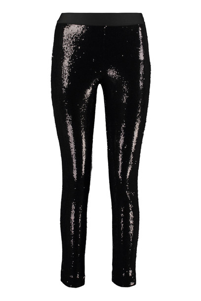 Parosh Sequined Trousers in black