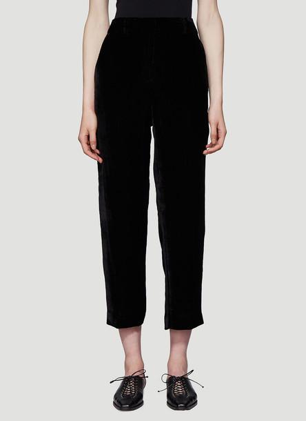 Sies Marjan Willa Fluid Corduroy Cropped Trousers in Black size US - 06