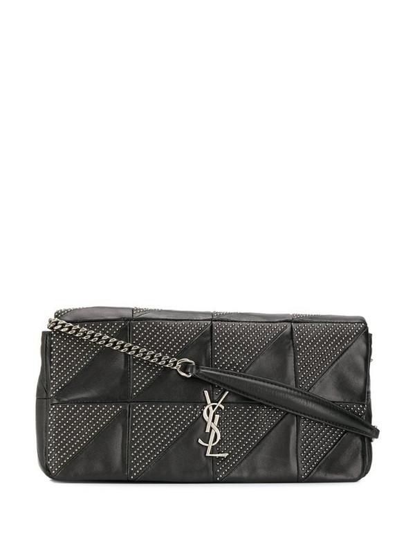 Saint Laurent Jamie studded shoulder bag in black