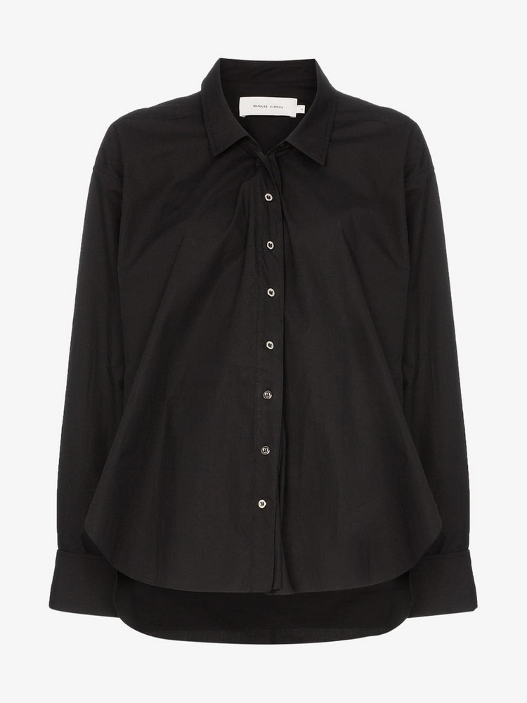 Marques'Almeida Buttoned shirt with cuff ring detail in black
