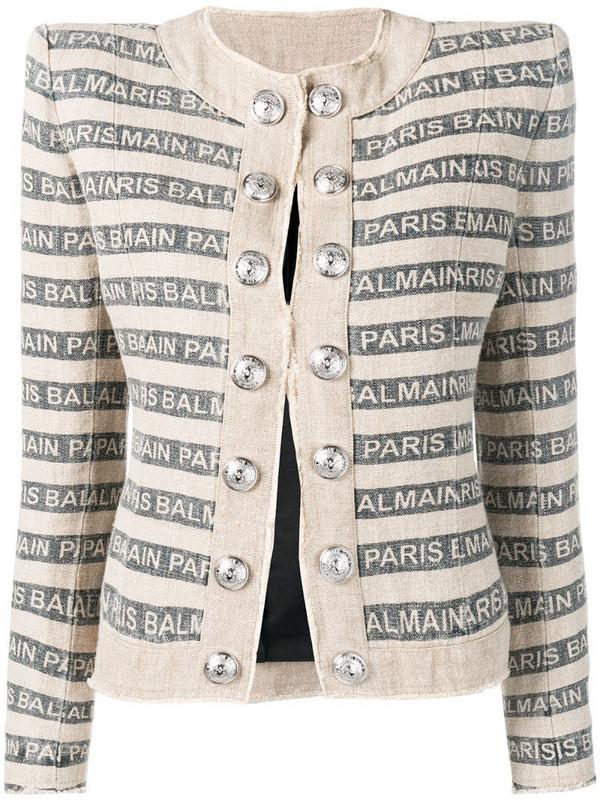 Balmain Gay Ficelle jacket in neutrals