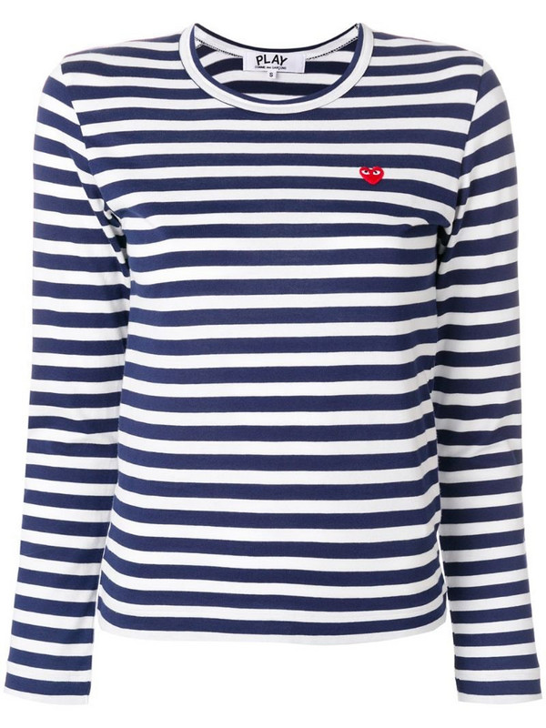Comme Des Garçons Play striped T-shirt in white