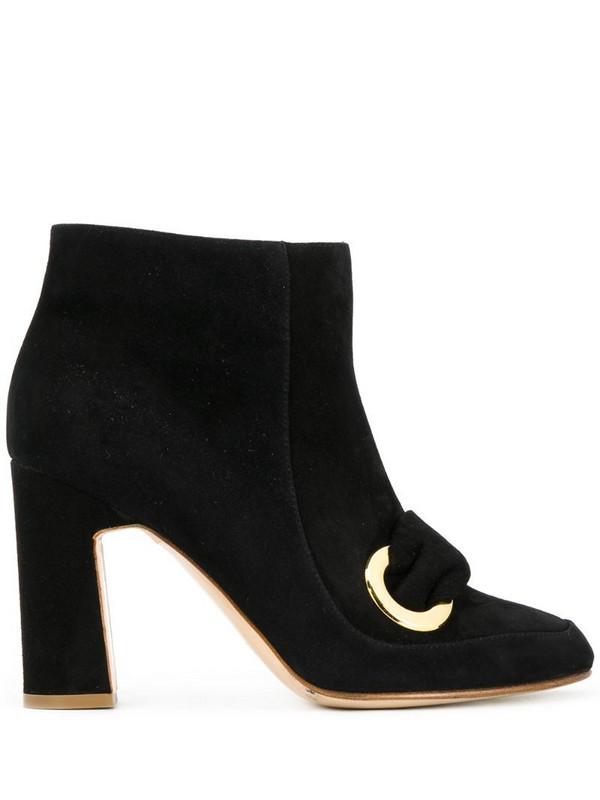 Rupert Sanderson Parilla ring-detail ankle boots in black