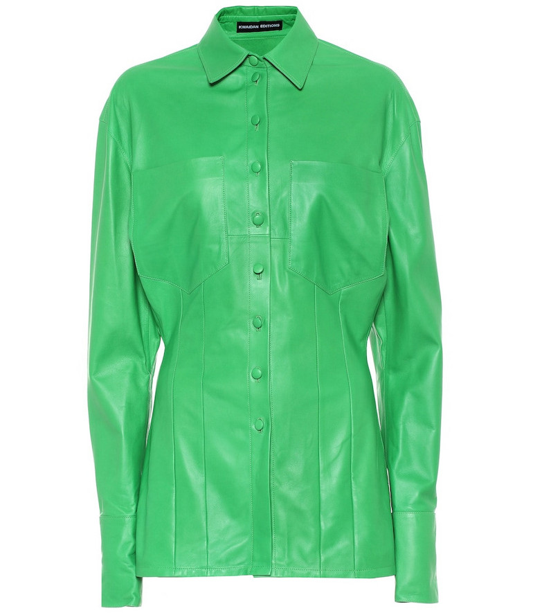 Kwaidan Editions Leather shirt in green