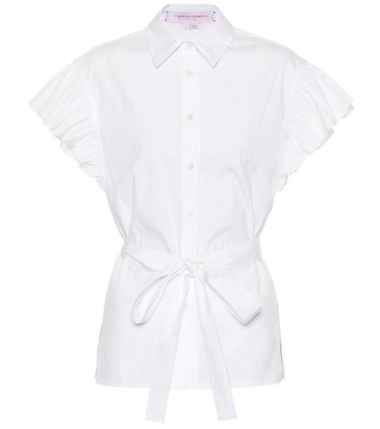 Carolina Herrera Cotton blouse in white