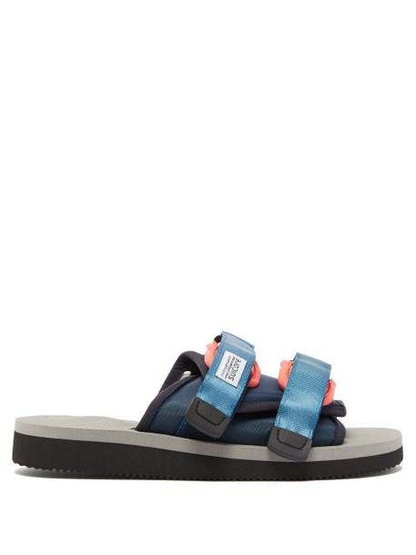 Suicoke - Moto Cab Technical Twill Slides - Womens - Grey Navy