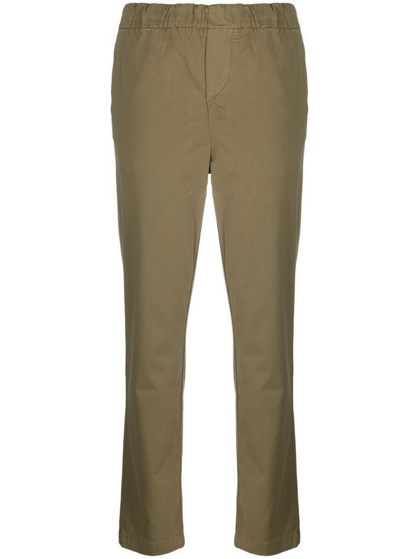 7 For All Mankind elasticated slim-fit trousers in green