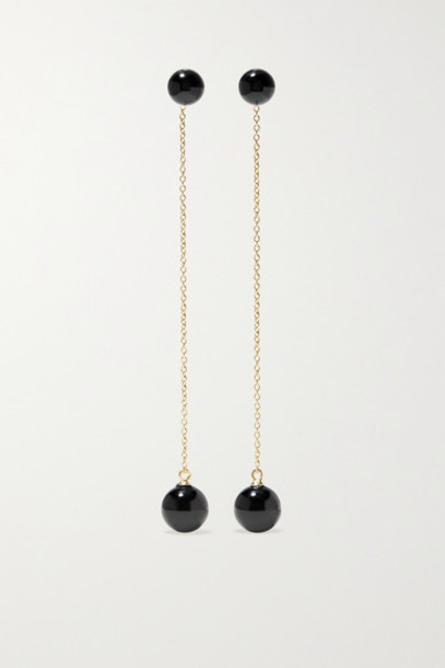 Mateo - 14-karat Gold Onyx Earrings