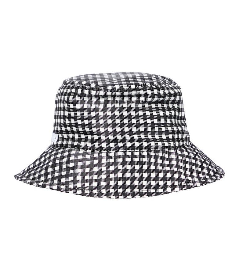 Miu Miu Gingham silk faille bucket hat in black
