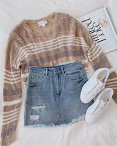 skirt,jewels,sweater,shoes