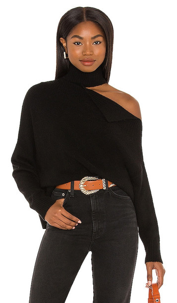 Central Park West Knightley Cut Out Sweater in Black