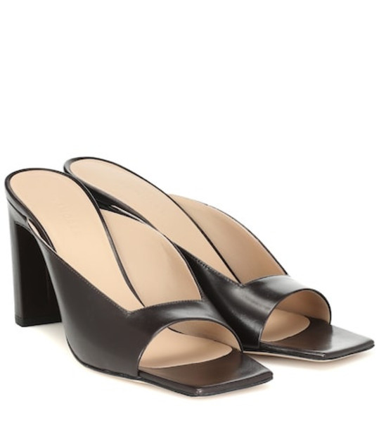 Wandler Isa leather sandals in black