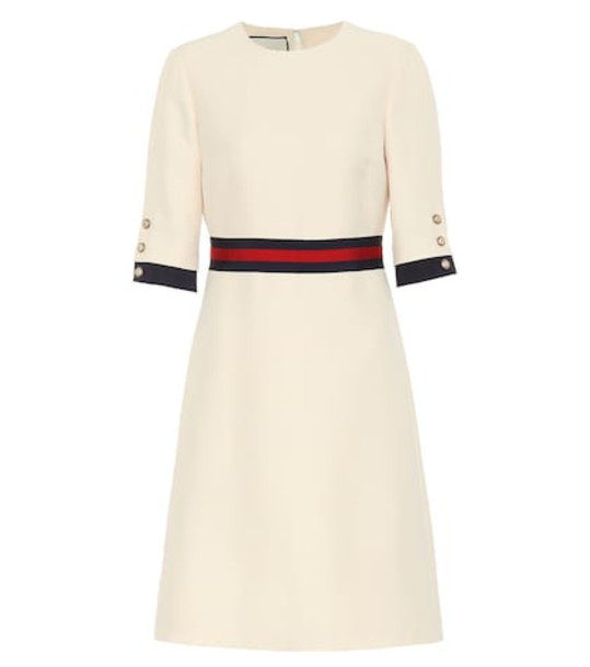 Gucci Wool and silk minidress in white