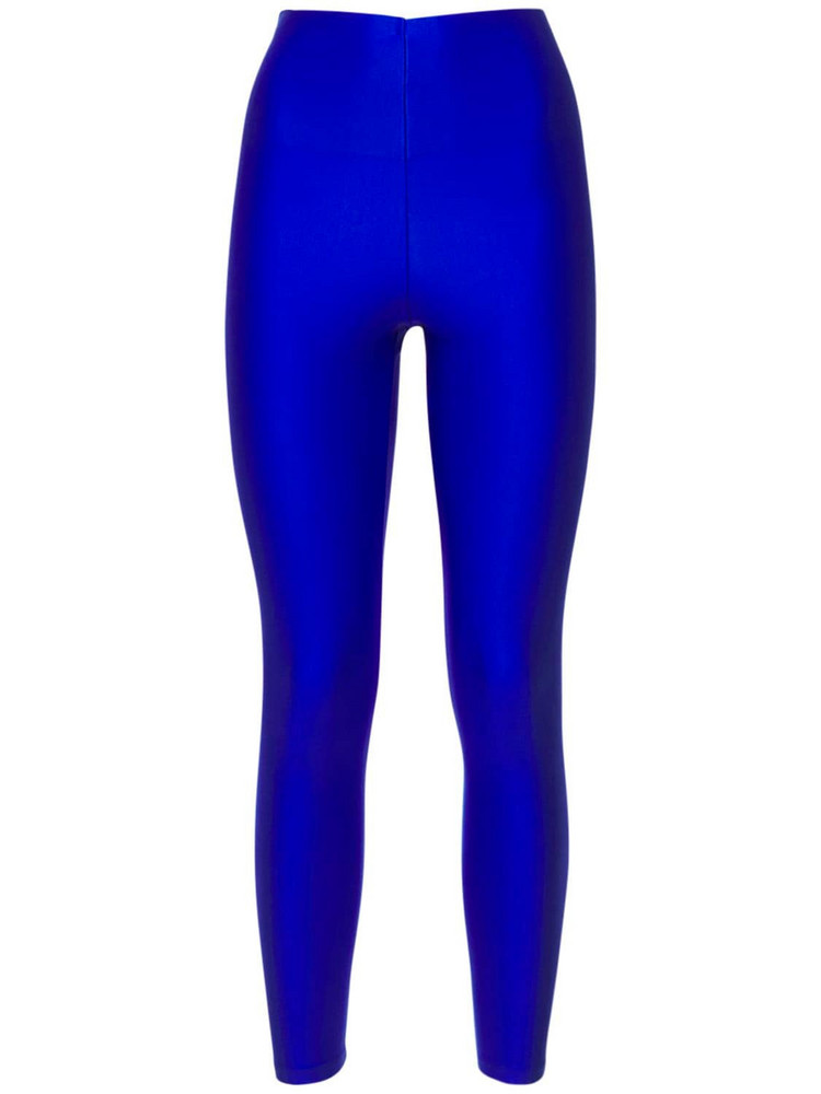 THE ANDAMANE Holly 80's Shiny Leggings in blue