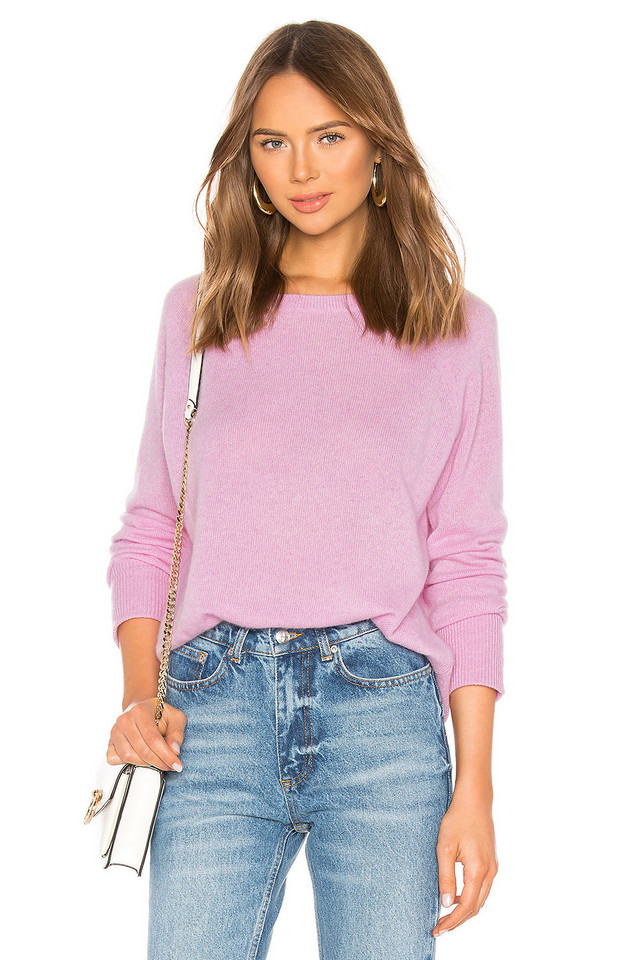 White + Warren Essential Sweatshirt in purple