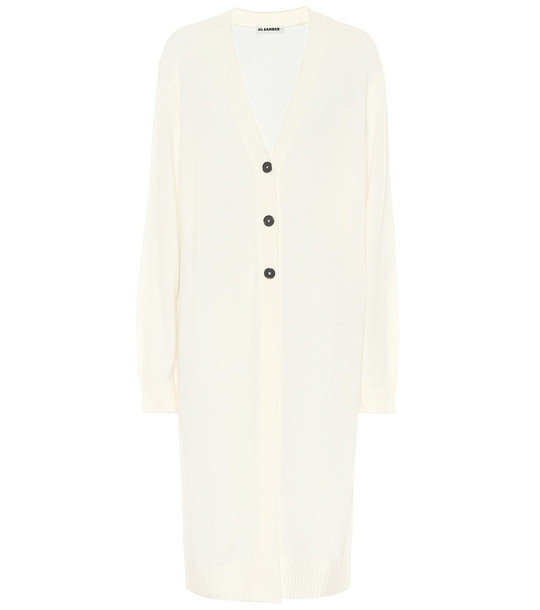 Jil Sander Wool cardigan in white