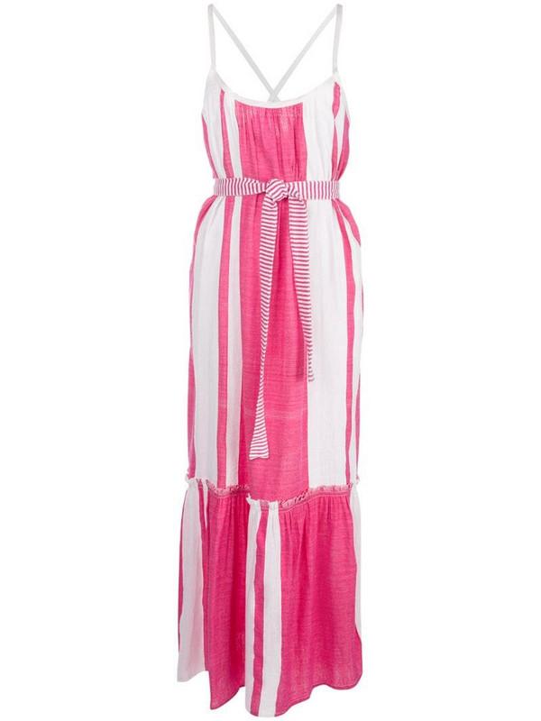 lemlem Zoya striped beach dress in pink