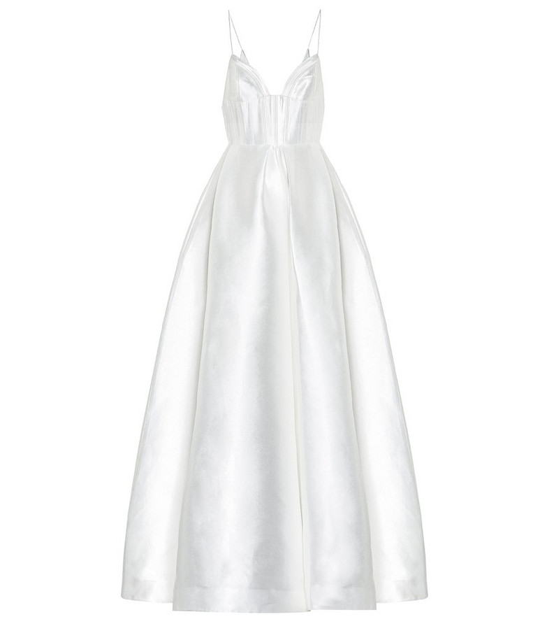 Alex Perry Maddison silk bridal gown in white