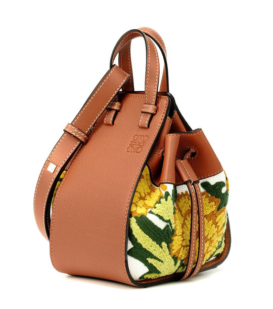 Loewe Hammock Mini floral crossbody bag in orange