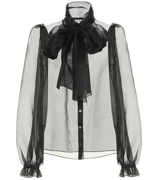 Dolce & Gabbana Silk-organza blouse in black